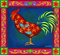 Mosaic Rooster Fine Art Print