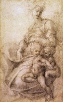 The Virgin and Child with the infant Baptist, c.1530 Fine Art Print