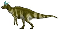 Lambeosaurus Lambei, a Hadrosaurid Dinosaur from the Cretaceous Period Fine Art Print