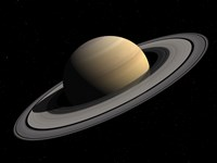 Artist's concept of Saturn Fine Art Print