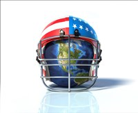 Planet Earth Protected by an American Football Helmet Fine Art Print