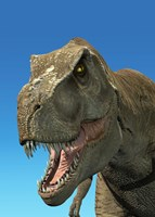 3D Rendering of Tyrannosaurus Rex, Close-up Fine Art Print