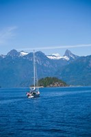 Sailboat, Desolation Sound, British Columbia, Canada Fine Art Print