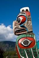 Totem poles, Gold River, Vancouver, British Columbia Fine Art Print
