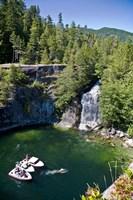 Waterfall, Desolation Sound, British Columbia Fine Art Print