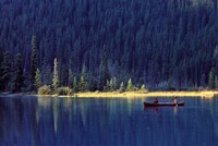 Fishing on Waterfowl Lake, Banff National Park, Canada Fine Art Print