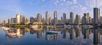 City Skyline, False Creek, Vancouver, British Columbia Fine Art Print