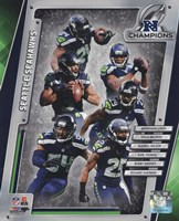 Seattle Seahawks 2014 NFC Champions Team Composite Fine Art Print