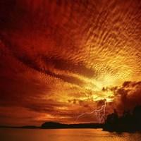 Red Storm Fine Art Print