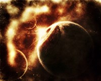 Apocalyptic View of a Solar System Fine Art Print