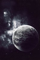 Artist's Concept of a Windy Planet with a Thick Atmosphere Fine Art Print