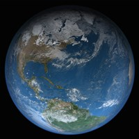 Full Earth Featuring North and South America Fine Art Print
