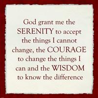 Serenity Prayer - Red Border Fine Art Print