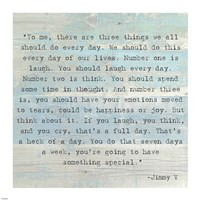 Three Things, Jimmy V Quote Fine Art Print
