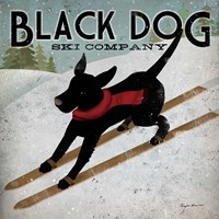 Black Dog Ski Co. Fine Art Print