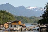 British Columbia, Vancouver Island, Tofino, Floating houses Fine Art Print