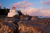 Amphitrite Lighthouse, Vancouver Is, British Columbia Fine Art Print