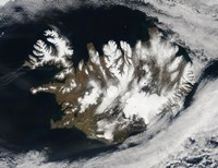 Satellite view of Iceland Fine Art Print