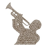 Trumpet Player (Greatest Jazz Tunes) Fine Art Print