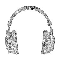 Headphones (Music Genres) Framed Print