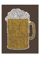 "Beer (Popular Terms for Being ""Drunk"") Fine Art Print"