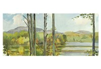 Lake Study (left) Framed Print