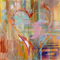 Abstract Heart Fine Art Print