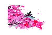 Japanese Temple Scene Fine Art Print