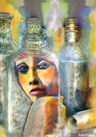 Bottled Woman Fine Art Print