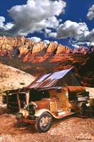Tanker Truck in Jerome Arizona Fine Art Print