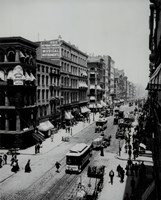 A view of Broadway,New York, New York- early 1900's Fine Art Print