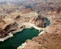Aerial view of the Hoover Dam- Arizona Fine Art Print