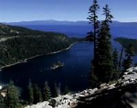 Emerald Bay lies near South Lake Tahoe, California Fine Art Print