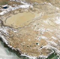Satellite View of the Tibetan Plateau Fine Art Print