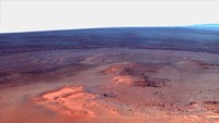 False Color Mosaic of Greeley Haven on Mars Fine Art Print