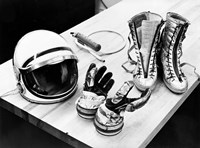 Components of the Mercury Spacesuit Included Gloves, Boots and a Helmet Fine Art Print