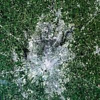 Satellite view of Indianapolis, Indiana Fine Art Print