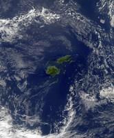 Satellite view of Vanua Levu, the Second Largest Island of Fiji Fine Art Print