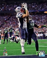 Rob Gronkowski Touchdown Super Bowl XLIX Framed Print