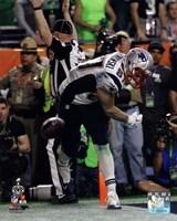 Rob Gronkowski Touchdown Celebration Super Bowl XLIX Fine Art Print