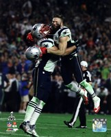 Rob Ninkovich & Julian Edelman Super Bowl XLIX Action Fine Art Print