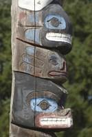 Tseshaht Totem Poles, Port Alberni, British Columbia Fine Art Print