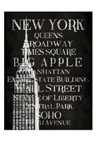 Black & White New York Framed Print
