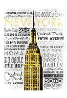 New York - Yellow Framed Print