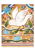 White  Bird 1 with Border Fine Art Print