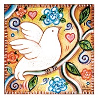 White Bird 2 Square Fine Art Print
