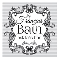 French Bath Set 01 Framed Print