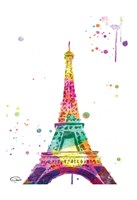 Eiffel Watercolor Framed Print