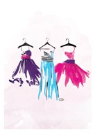 Watercolor Dresses I Fine Art Print