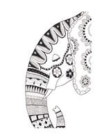 Lone Elephant 2 Fine Art Print